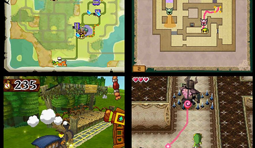 Action from The Legend of Zelda: Spirit Tracks from Nintendo for the DS