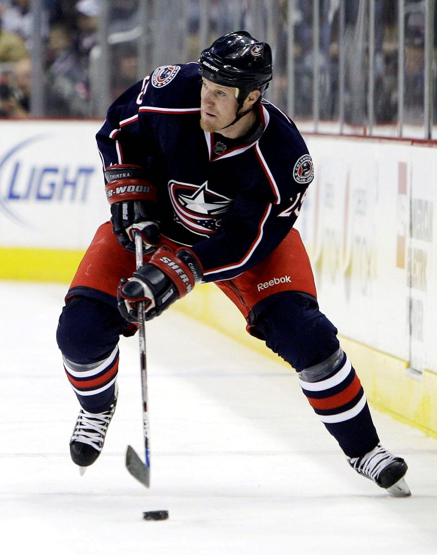 Associated Press IN <b>Jason Chimera</b>, whom the Caps acquired for Clark and Milan Jurcina, is a natural left wing.