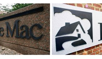 ** FILE ** Mortgage giants Fannie Mae and Freddie Mac (Associated Press)
