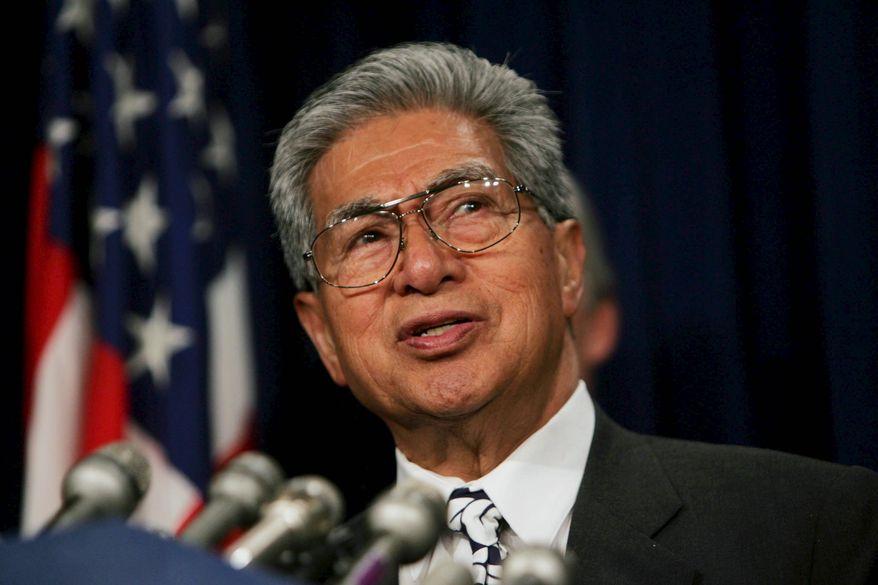 **FILE** Sen. Daniel K. Akaka, Hawaii Democrat (Bloomberg News)