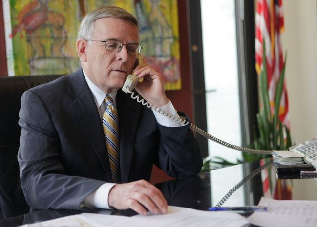 ** FILE ** Former Sen. Byron L. Dorgan of North Dakota (Associated Press)