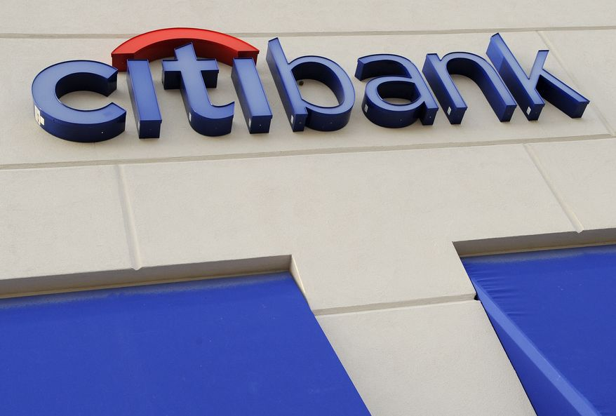 A Citibank sign is seen outside an office in Woburn, Mass., in 2009. (Associated Press)
