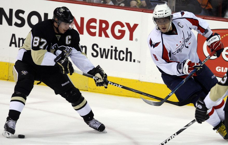 Have we witnessed the best of Alex Ovechkin and Sidney Crosby? Ovechkin, currently a minus-2, is coming off his worst season in which he scored 32 goals and recorded 53 assists, while Crosby hasn't played since Jan. 5 after suffering a concussion. (Associated Press)