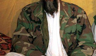 ** FILE ** Undated photo of al Qaeda chief Osama bin Laden. (AP Photo, File)