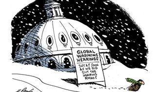 Political Cartoons - Global Warming Hearings - H. Payne