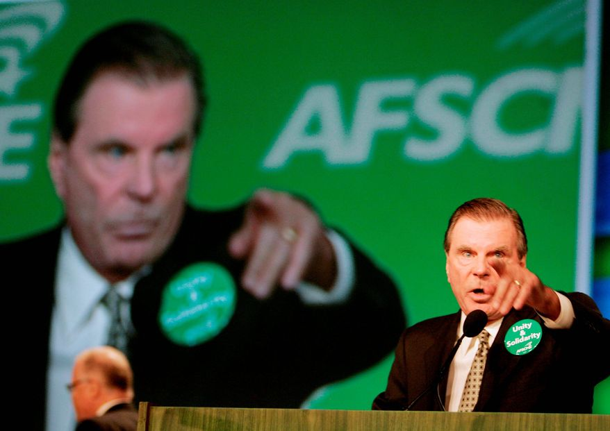 Associated Press American Federation of State, County and Municipal Employees President Gerald McEntee, seen here addressing the union's convention in July 2008, heads the AFL-CIO's political committee.
