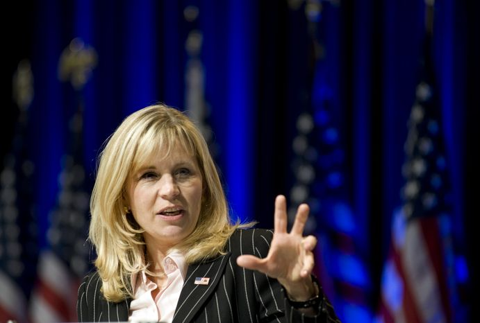 ** FILE ** Liz Cheney, co-founder of Keep America Safe (Associated Press)