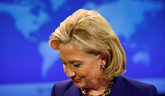 """ASSOCIATED PRESS Secretary of State Hillary Rodham Clinton spoke Thursday about the State Department's 2009 Country Reports on Human Rights Practices. Iran and China topped a list of 25 countries criticized in the annual report for imposing """"draconian"""" restrictions on rights."""