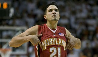 Greivis Vasquez and the Maryland Terrapins are heading to the NCAA basketball tournament as a No. 4 seed. (AP file photo) **FILE**