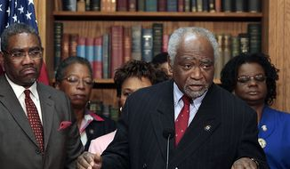 Rep. Danny Davis, D-Ill., speaks during a news conference on health care reform hosted by the Congressional Black Caucus on Capitol Hill in Washington, Friday, March 19, 2010. (AP Photo/Haraz N. Ghanbari)