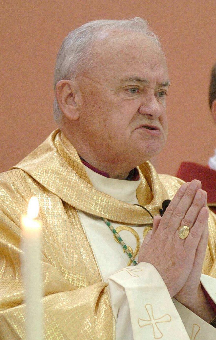 ** FILE ** Bishop John Magee (AP Photo/PA, File)
