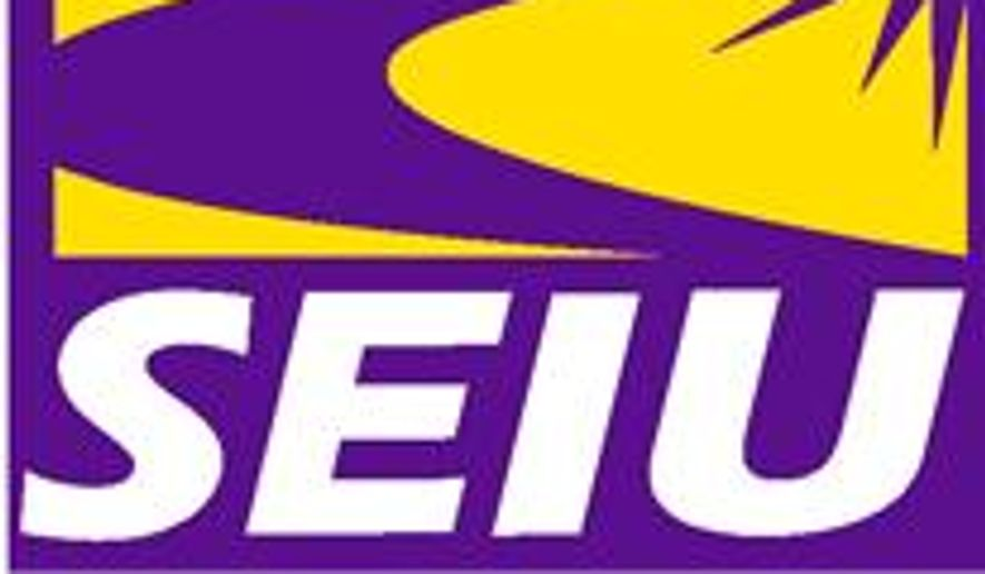 Logo: Service Employees International Union.