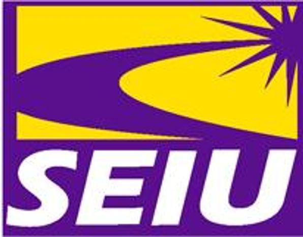 Logo: Service Employees International Union.