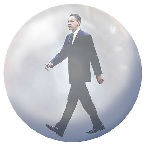 Illustration: Obama bubble by Greg Groesch for The Washington Times.