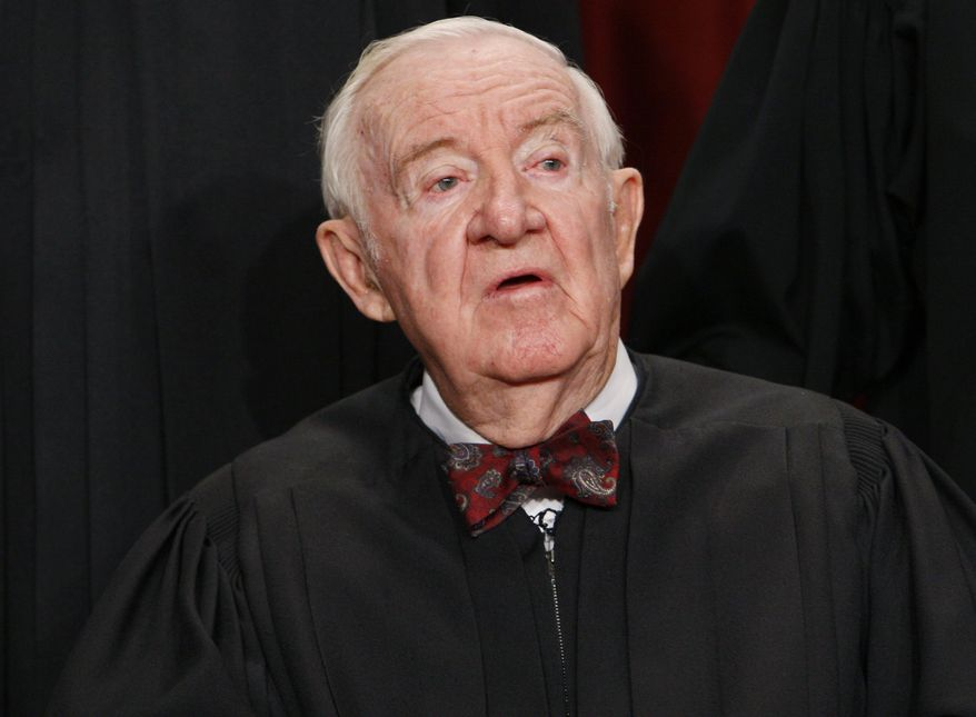 ** FILE ** Justice John Paul Stevens retired from the U.S. Supreme Court in June 2010. (AP Photo/Charles Dharapak, File)