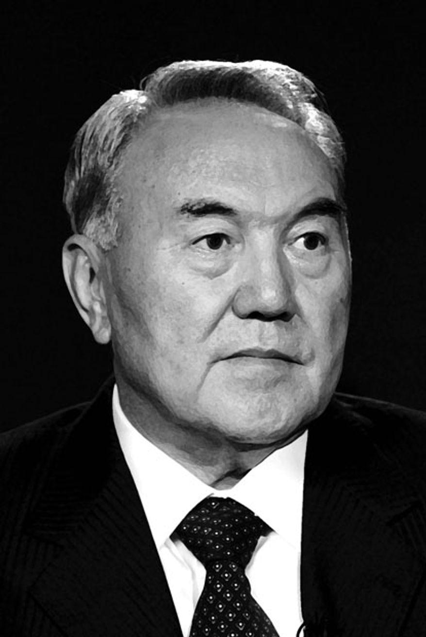 Kazakh President Nursultan Nazarbayev.