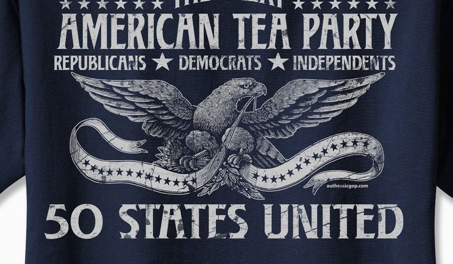 "Who says the tea-party movement is divisive and limited to far-right-leaning activists? A new ""tea"" shirt from manufacturer Authentic GOP challenges that claim."