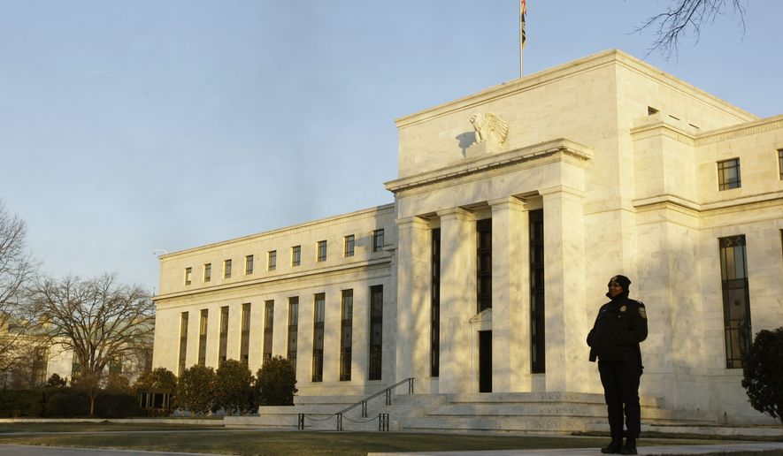 The Federal Reserve headquarters in Washington (AP Photo/Alex Brandon)