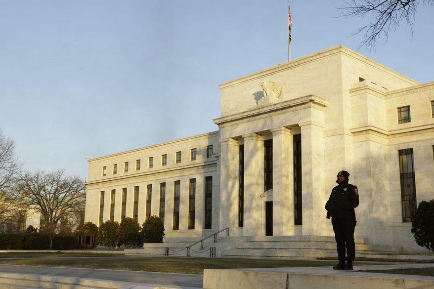 The Federal Reserve headquarters in Washington (AP Photo/Alex Brandon)