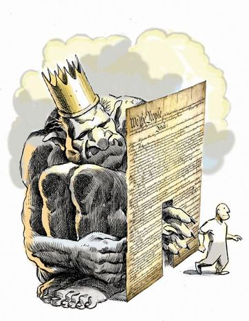 Illustration: Constitution by Alexander Hunter for The Washington Times.