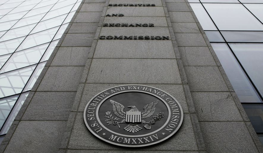 The Securities and Exchange Commission (SEC) headquarters in Washington (Associated Press) **FILE**
