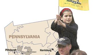 Illustration: Pennsylvania 12 by Greg Groesch for The Washington Times.