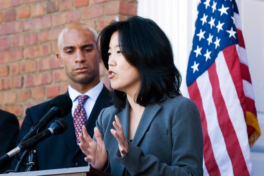 **FILE** D.C. Mayor Adrian M. Fenty and D.C. Schools Chancellor Michelle Rhee. (The Washington Times)
