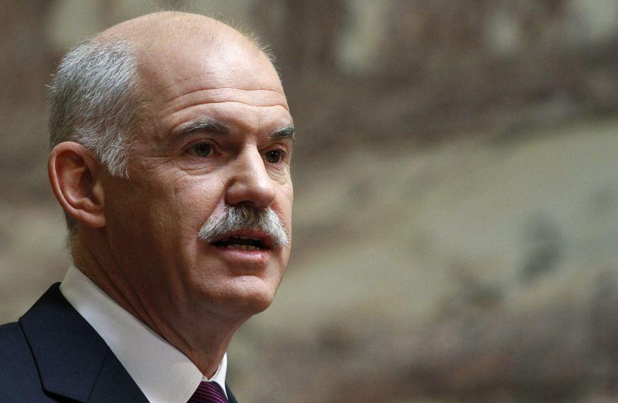 **FILE** Greek Prime Minister George Papandreou (Associated Press)