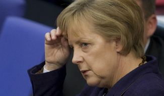 **FILE** German Chancellor Angela Merkel (Associated Press)
