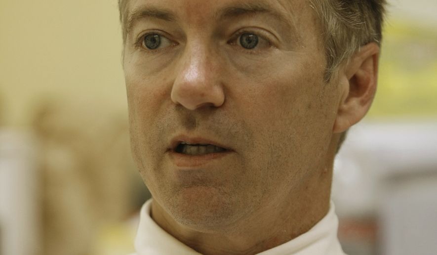 Republican U.S. Senate candidate Rand Paul is shown during an interview at his campaign headquarters after winning his party's primary election in Bowling Green, Ky., Wednesday, May 19, 2010. (AP Photo/Ed Reinke)