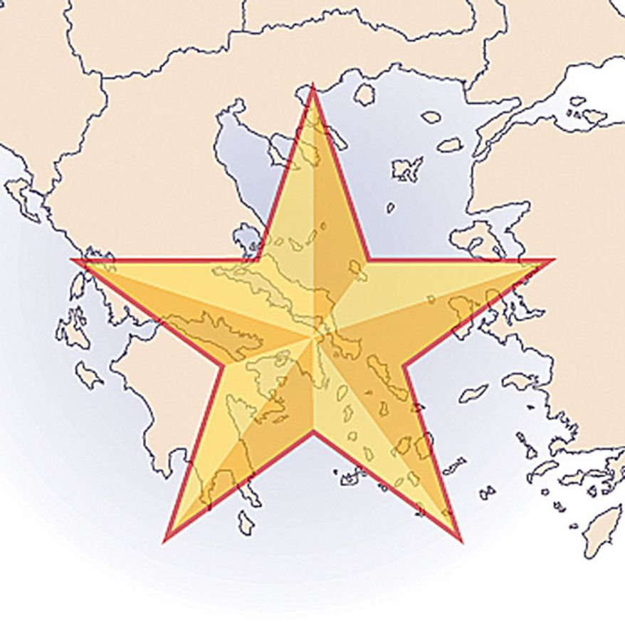 Illustration: Greece by Greg Groesch for The Washington Times