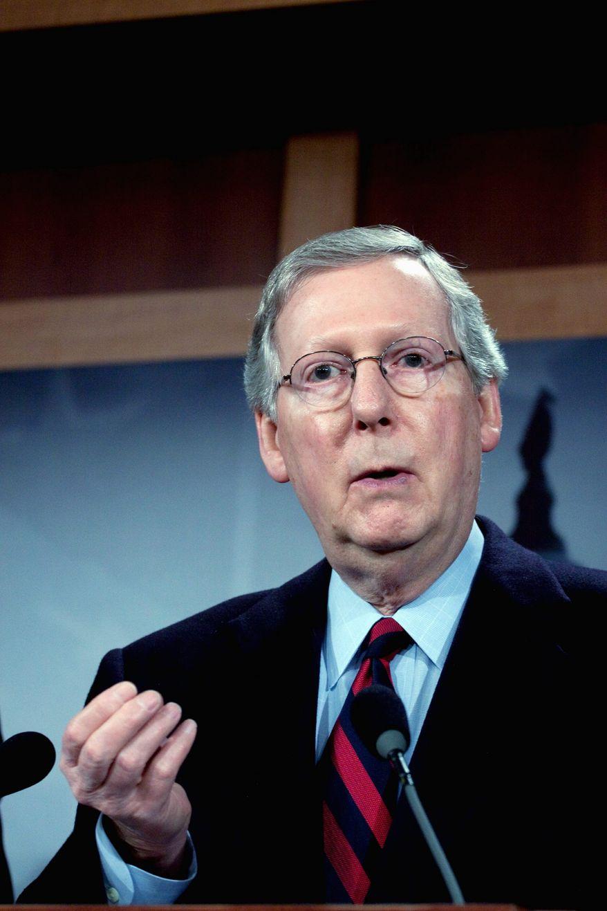 **FILE** Senate Minority Leader Mitch McConnell, Kentucky Republican (Associated Press)