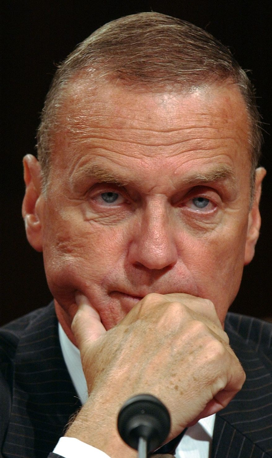 **FILE** Retired Marine Corps Gen. James L. Jones testifies on Capitol Hill in Washington on Sept. 6, 2007. (Associated Press)