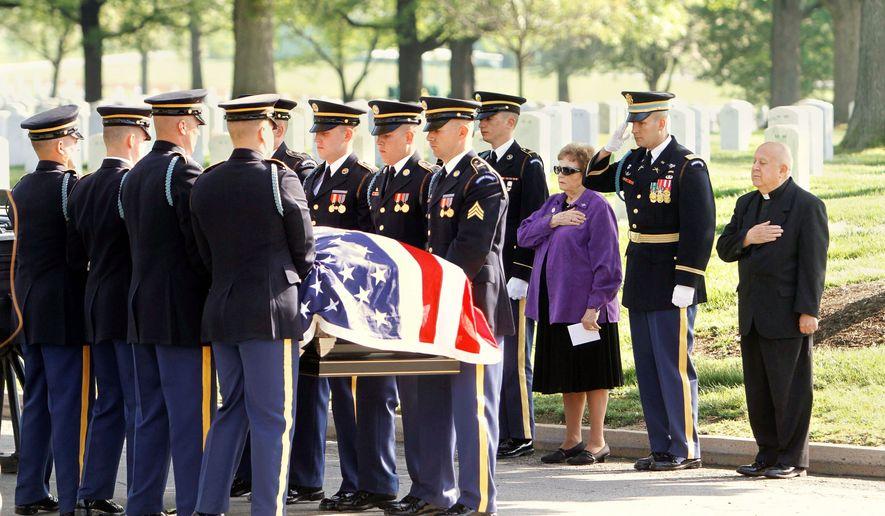 Military funeral etiquette uniform