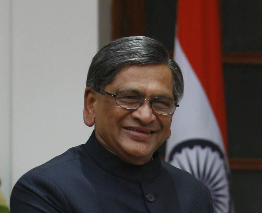 **FILE** Indian Foreign Minister S.M. Krishna (Associated Press)