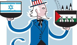 Illustration: Hamas by Linas Garsys for The Washington Times