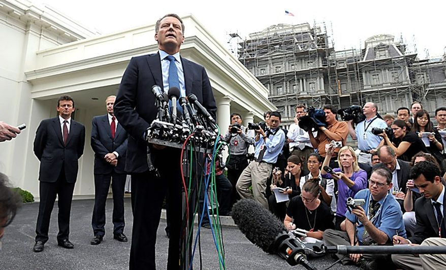 BP Chairman Carl-Henric Svanberg speaks to the news media outside the White House in Washington, Wednesday, June 16, 2010, after attending a meeting at the White House with President Obama in Washington. Standing behind Mr. Svanberg is BP Chief Executive Officer Tony Hayward, left, and BP Managing Director Bob Dudley, second from left. (AP Photo/Susan Walsh)