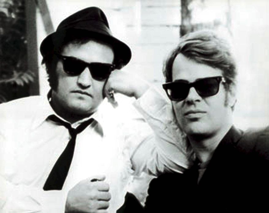 "**FILE** Jake and Elwood Blues in ""The Blues Brothers,"" played by John Belushi and Dan Aykroyd (Associated Press)"