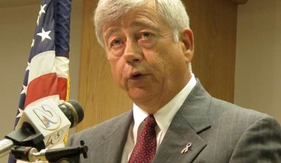 Vic Rawl, a former South Carolina judge and lawmaker, announces on Monday, June 14, 2010, in North Charleston, S.C., that he formally will protest the results of the June 8 primary for the Democratic nomination for a U.S. Senate seat. Mr. Rawl lost to political unknown Alvin Greene. (AP Photo/Bruce Smith)