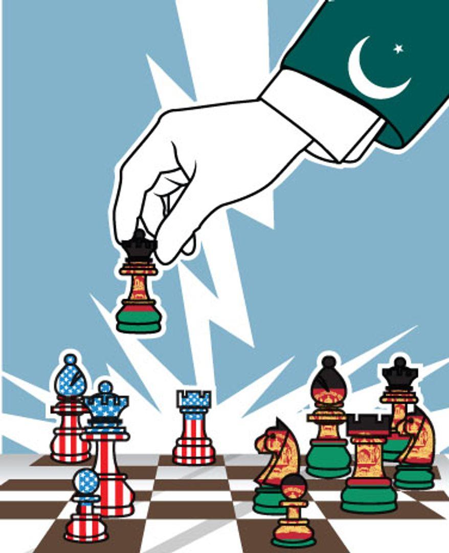 Illustration: Pakistan by Linas Garsys for The Washington Times