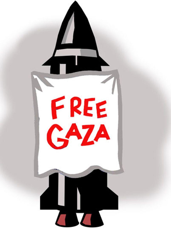 Illustration: Free Gaza by Alexander Hunter for The Washington Times