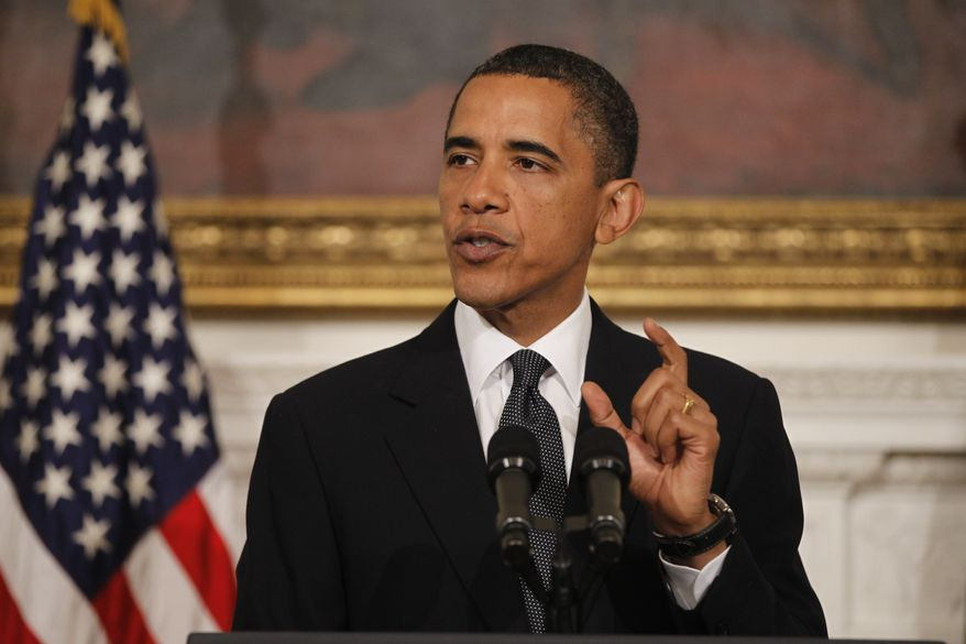 In this June 16, 2010 file photo, President Barack Obama makes a statement in the State Dining Room of the White House in Washington after meeting with BP executives.