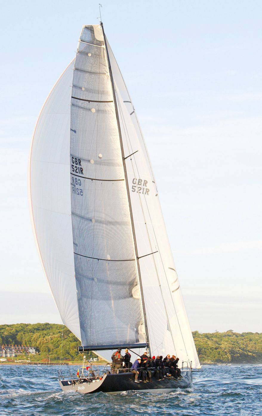 """The yacht """"Bob,"""" owned by BP Chief Executive Officer Tony Hayward, participates in the JP Morgan Asset Management Round the Island Race on Saturday off the south coast of England. Mr. Hayward took time off from handling the oil spill in the Gulf of Mexico to see his boat participate, a respite that infuriated some Americans. (Associated Press)"""