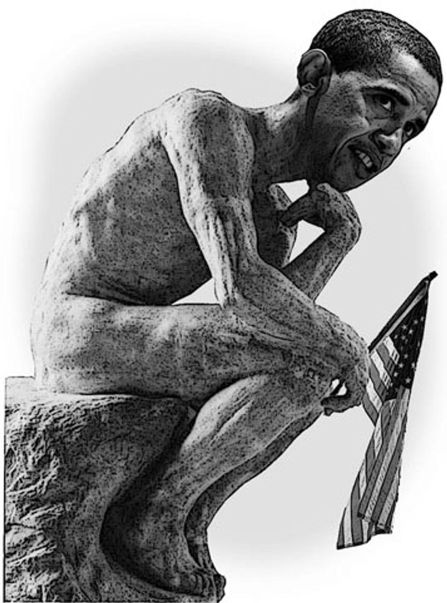 Illustration: Obama the thinker