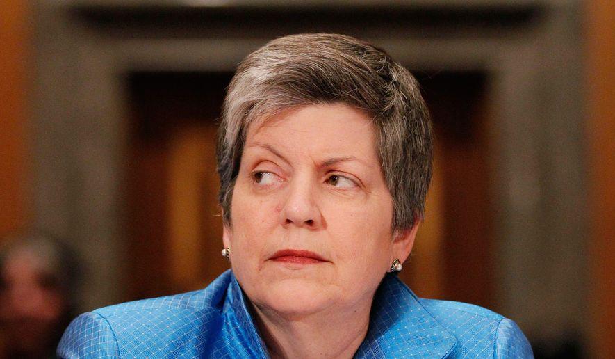 **FILE** Homeland Security Secretary Janet Napolitano (Associated Press)