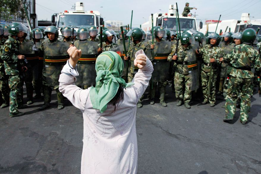 China is said to be concerned that the Islamic State is moving into western China, specifically Xinjiang province, where Muslim Uighurs in the past have joined Islamist terrorist groups. (Associated Press/File)