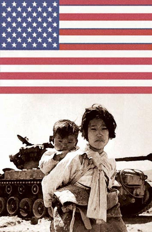 Illustration: Korean War by Alexander Hunter for The Washington Times