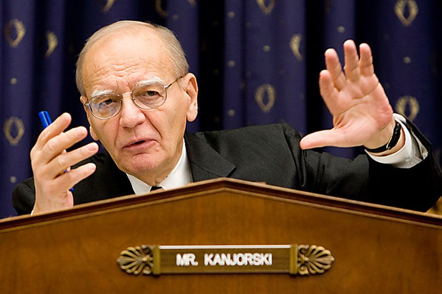 House Capital Markets, Insurance, and Government Sponsored Enterprises subcommittee Chairman Rep. Paul E. Kanjorski, Pennsylvania Democrat, speaks during the House Committee on Financial Services Committee hearing on Capitol Hill in Washington, Monday, Jan. 5, 2009. (AP Photo/Haraz N. Ghanbari)