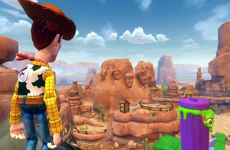 The Toy Box mode opens up an entire city to Woody and his pals  in Toy Story 3: The Video Game from Disney Interactive Studios.