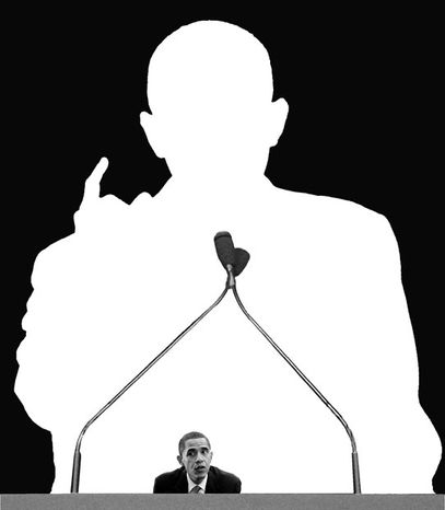Illustration: Obama shrinks